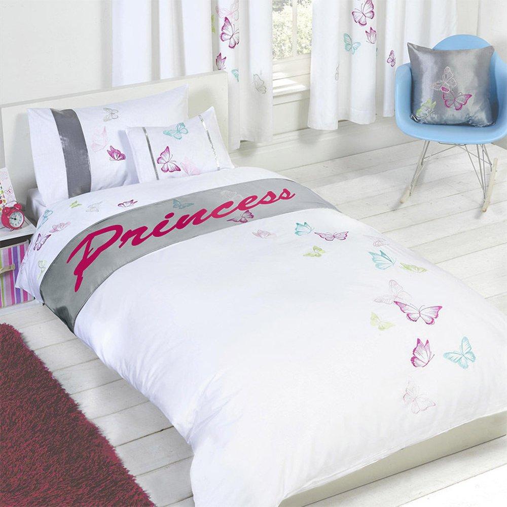 Butterflies Princess - Childrens Girls Personalised Duvet-Quilt ... : mr tumble quilt cover - Adamdwight.com