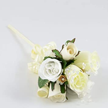 Silk Wedding Flowers Hand Made By Petals Polly Flower Girl Wand