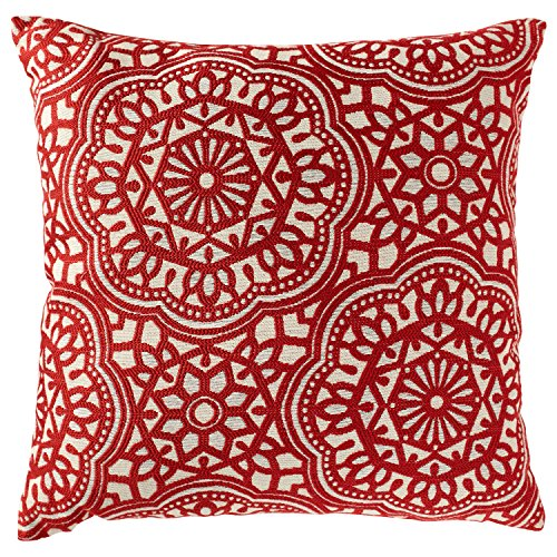 "61fbrmGensL - Stone & Beam Medallion Pillow, 17"" x 17"", Henna"