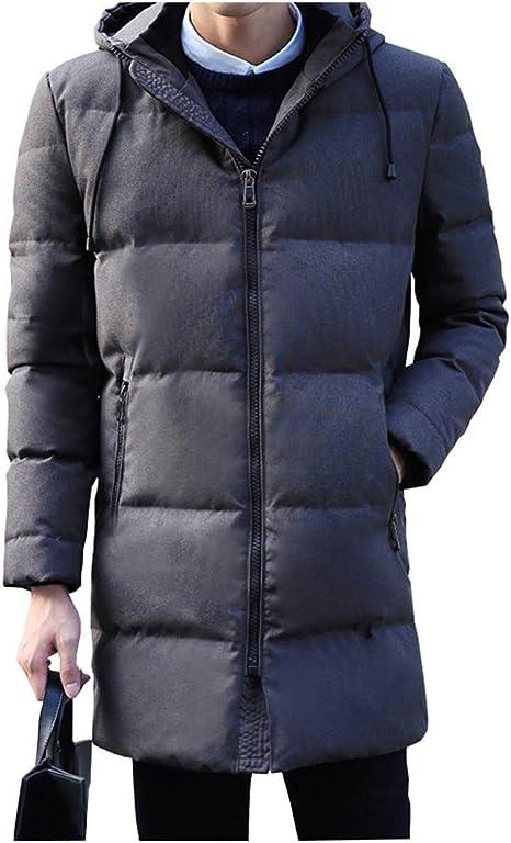 Chaquetas de pluma 90% pato blanco abajo chaqueta con capucha hombre abajo chaqueta de invierno gruesa chaqueta de abrigo chaqueta de abrigo abrigo rompevientos abrigos (color : Gray , Tamaño :