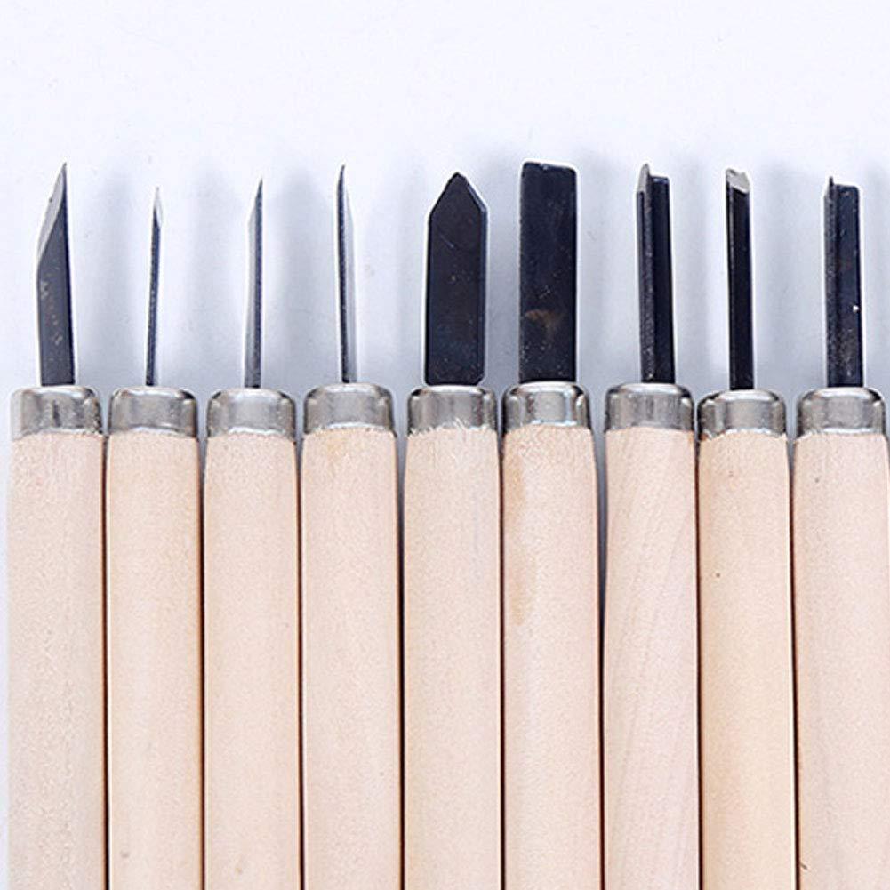 10 Set Madera Tallada (Herramientas cuchillo Kit Artesanía ...