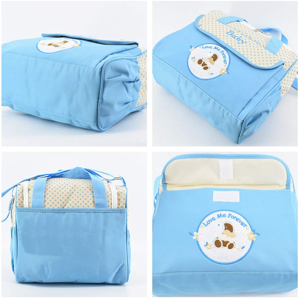 Baby Nappy Changing Bags Tote Multifunctional Waterproof Diaper Hospital Bag Stylish Mummy Changing Handbag Tote Messenger Pink