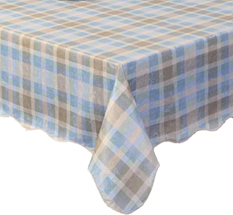 Amazon Com Ennas Vintage Checkered Flannel Backed Vinyl Tablecloth Waterproof Oblong Rectangle 46 Inch By 59 Inch Oblong Rectangle Home Kitchen