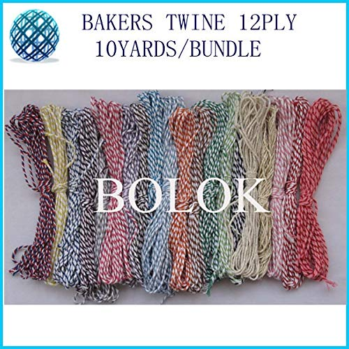 FINCOS 42 Color 100pcs/lot Cotton Twine 12ply 10yards/Bundle Color Twine,red Rope Used in Wrapping tag