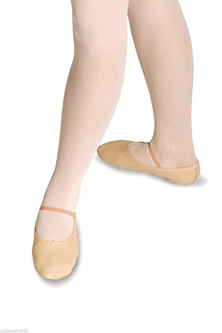 Roch Valley WIDE FIT PINK LEATHER BALLET SHOES Full Sole Child and Adult Sizes