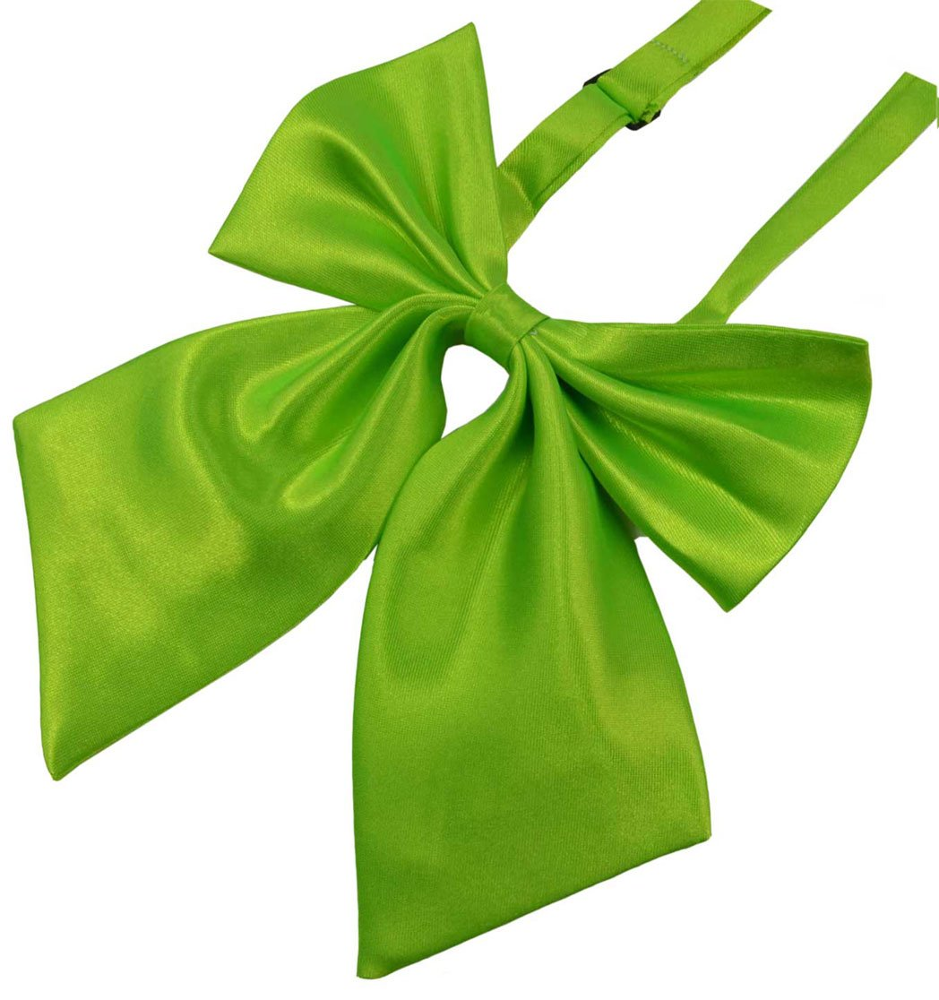 fb2582954a9e SYAYA Ladies girl Party Adjustable Pre-tied womens Bow Tie Solid Color  Bowties for Women ties WLJ06 (light green)