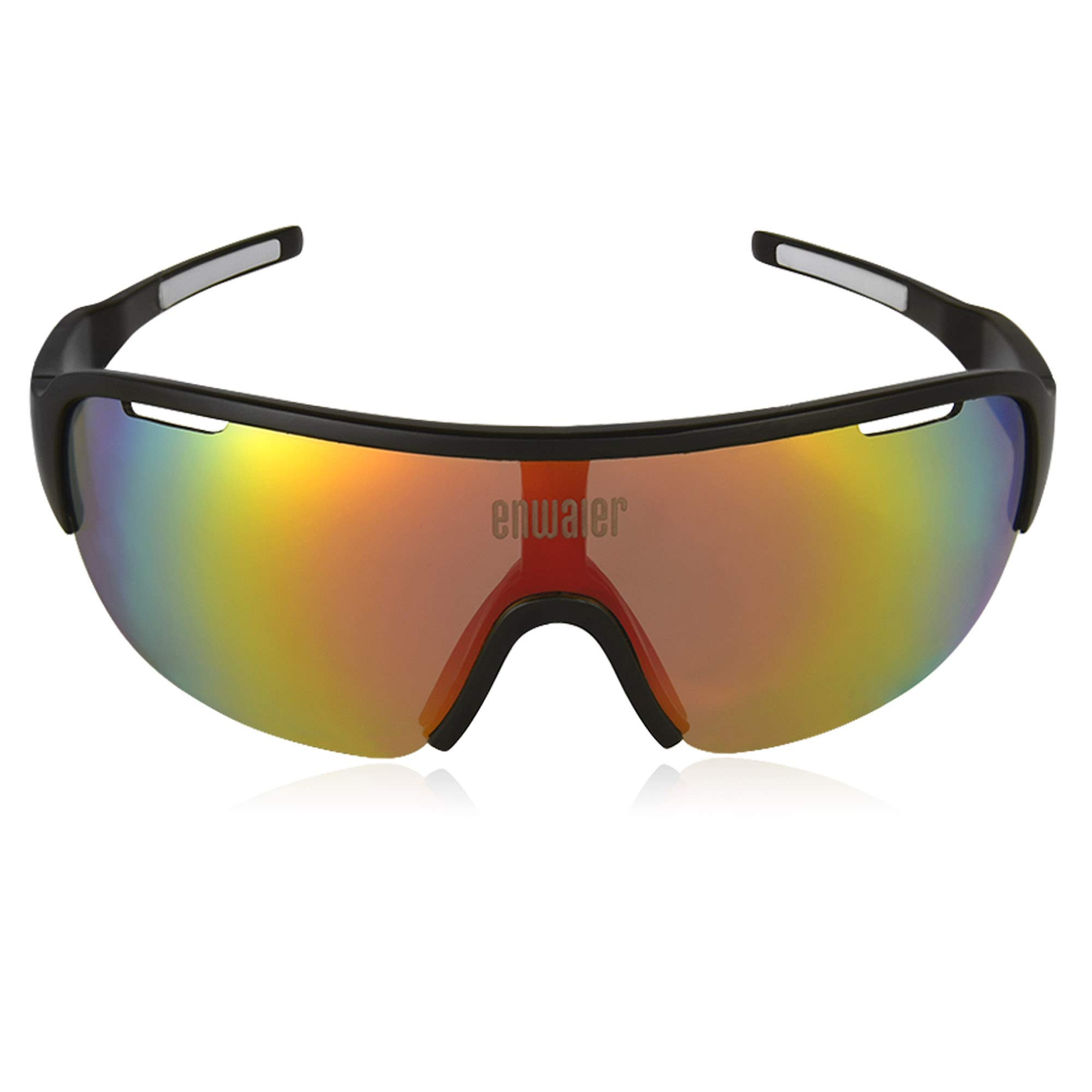 ENWAIER Polarized Sport Sunglasses for Men and Women with 3 Interchangeable Lenses Design Glasses for Cycling Running Driving Fishing Climbing with UV400 Protection TR90 Durable Frame