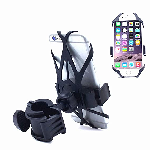 FULARR Premium Universal Bike Phone Holder for Motorcycle, Adjustable 360° Rotation Silicone Phone Mount
