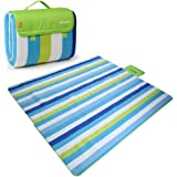 "Yodo XXX-Large Outdoor Waterproof Picnic Blanket Tote 79"" x 79"" / 79"" x 59"" Light Weight with Soft Fleece and Padding"
