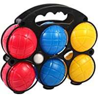 TOYANDONA Bocce Ball with Carry Case for Backyard Lawn Beach 6pcs (3 Colors)