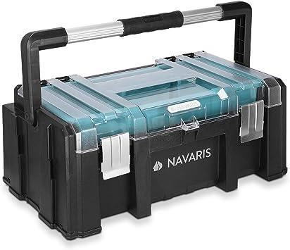 Navaris caja de herramientas de plástico - Organizador con 2 ...