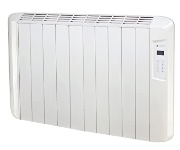 Haverland ES10D ES10D-Emisor Térmico Digital Seco, 1250 W, Color Blanco
