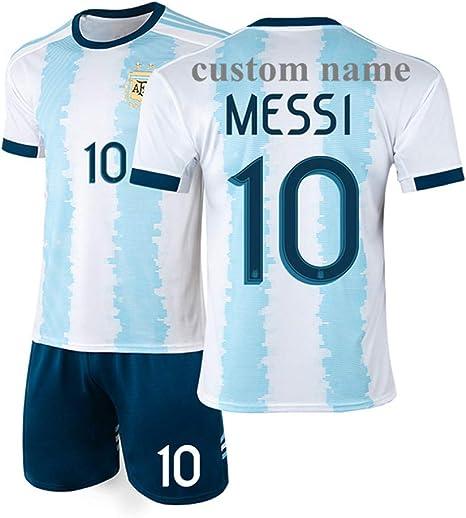 AS Know AS Personaliza tu Camiseta de Equipo de fútbol Profesional, Personaliza tu Nombre y número de Equipo y Personaliza tu Propia Camiseta de fútbol, 10-11 Years/Height:130-140 cm, Argentina Home: Amazon.es: Deportes