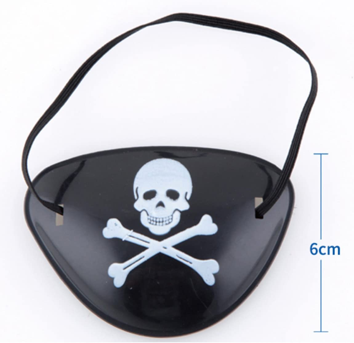 12 Pack Pirate Eye Patches for Halloween Pirate Costume Prop