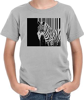 Barcode Zebra Illustration Camiseta niños 2/3 yrs: Amazon.es: Ropa y accesorios