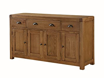 the one oakville solide eiche grosser sideboard mit 4 turen und 3 schubladen grosse