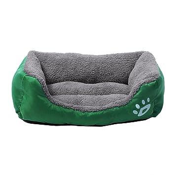 Camas para Gatos Sofás Mantas para Perros Pet Dog Cat Bed Puppy Cushion House Manta para Perro Soft Warm Kennel Matket (M, Verde): Amazon.es: Productos para ...