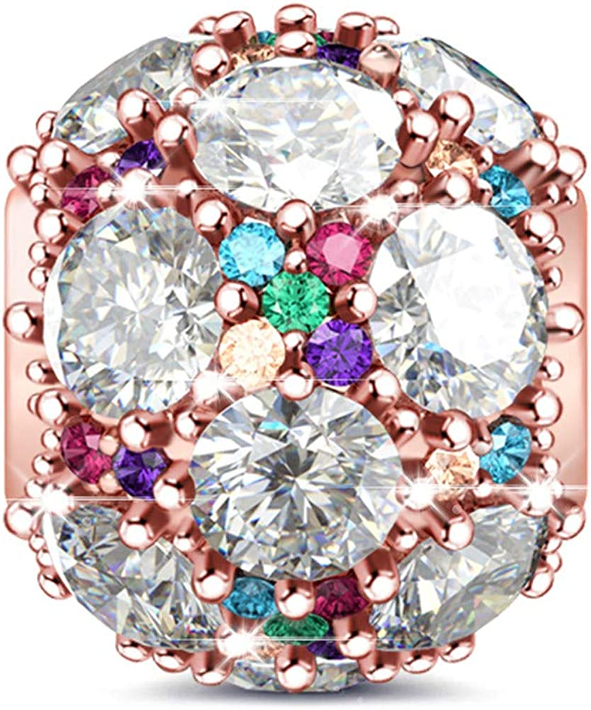 GNOCE Womens Charms for Bracelets Pendant for Women 925 Sterling Silver Charm Dangle for European Bracelets