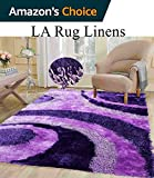 Dark Purple Light Purple lavender Shaggy Shag 3D Area Rug 8×10 Modern Art Deco Design High End Designer Quality Flokati High Pile Soft Iridescent Sheen Ultra Plush Living room Bedroom N-70 Review