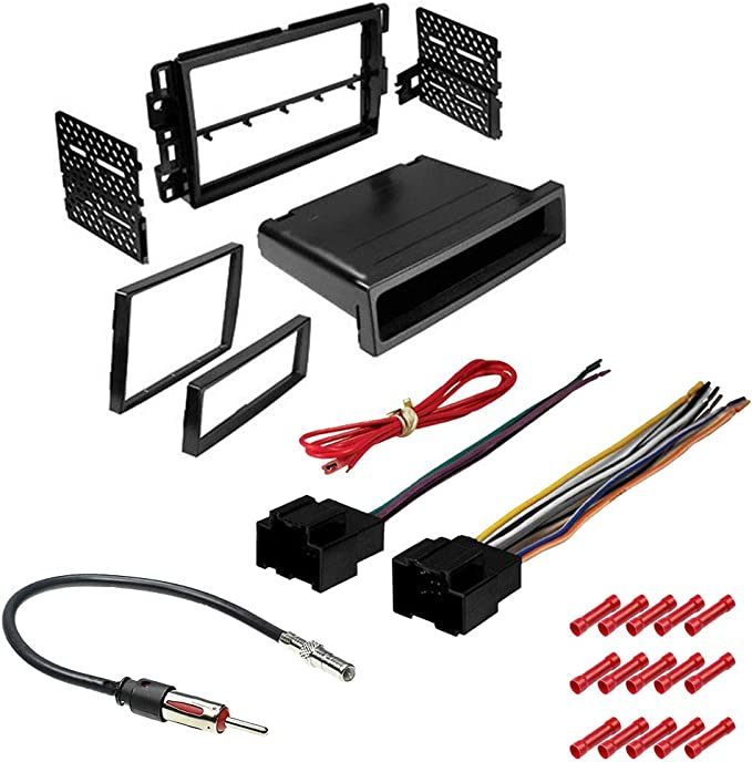 Harness 4 Item in Dash Mounting Kit Antenna for Single or Double Din Radio Receiver 2009 CACH/É KIT226 Bundle with Car Stereo Installation Kit for Saturn Aura 2007