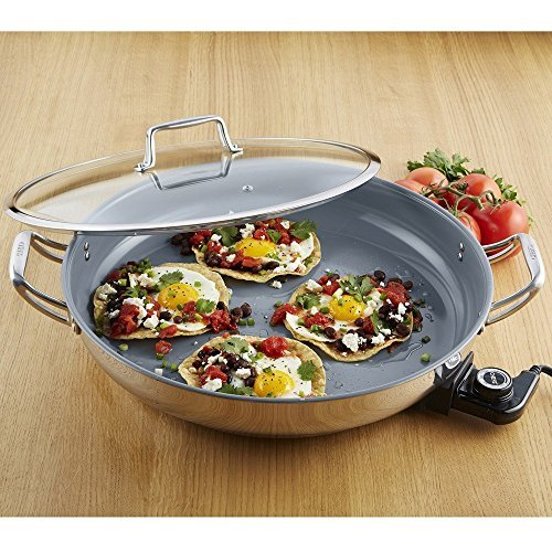 CHEFS Ceramic Nonstick Electric Skillet by CHEFS