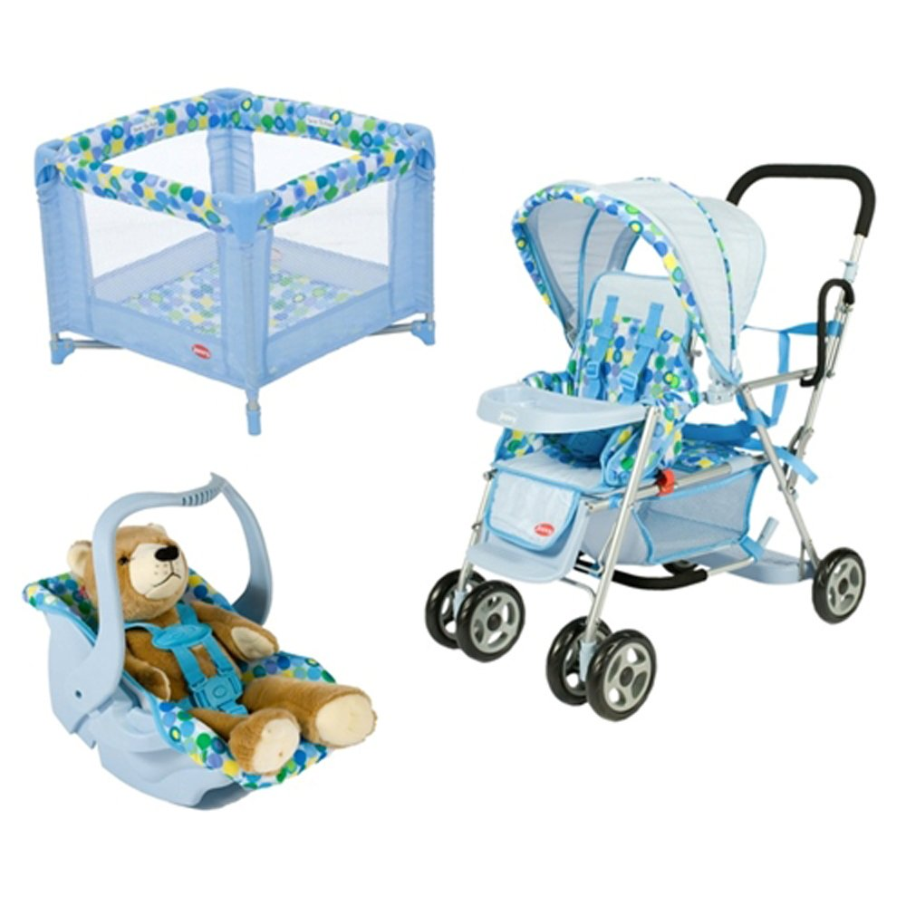 Toy Doll Caboose Tandem Stroller - Blue Dot 877408000433 ...