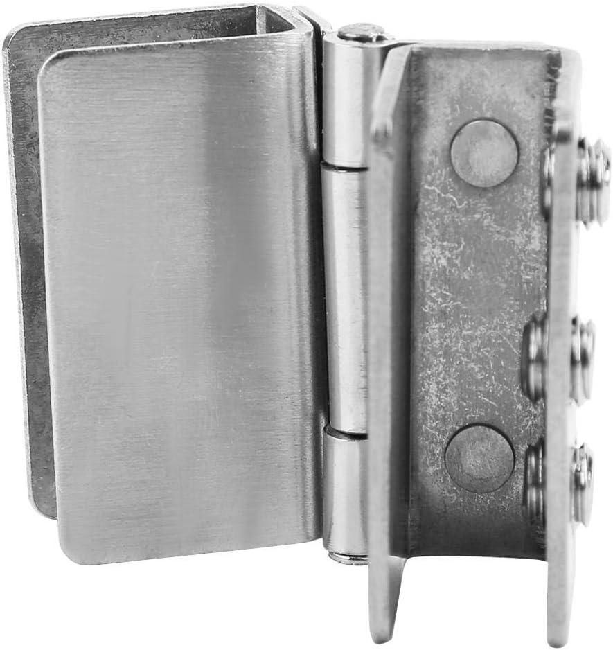Glass Door Hinge Punch-free Double Open Door Hardware Glass Bracket Glass Cabinets for Glass Doors Glass Door Clamp