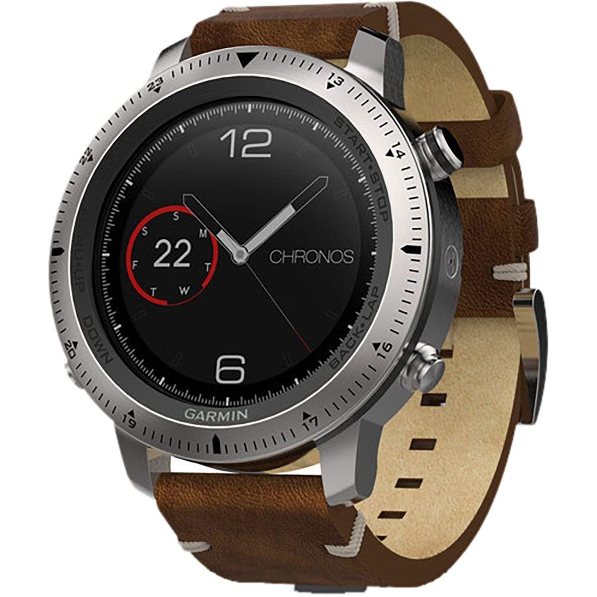 Garmin, Fenix Chronos, Watch, Steel with Brushed Stainless Steel Band, 010-01957-02 (Renewed)