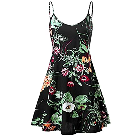Kleider Damen Kleider Elegant Sommer Boho Lange Maxi Kleid Blumenmuster Abendgesellschaft  Kleid Strand Kleider Sommerkleid, 837086d3ce