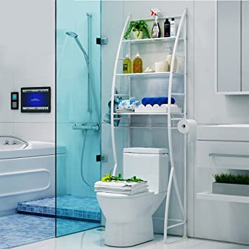 Shelf Badezimmer Badezimmer Multifunktions-WC-Rack/WC Finishing-Rack ...