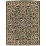 Nourison India House (IH18) Green Rectangle Area Rug, 8-Feet by 10-Feet 6-Inches (8