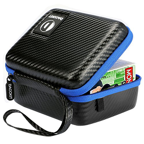 DACCKIT Carrying Case Compatible with Monopoly Deal Card Game - Fits Up to 400 Cards, Card Holder with Hand Strap and Carabiner