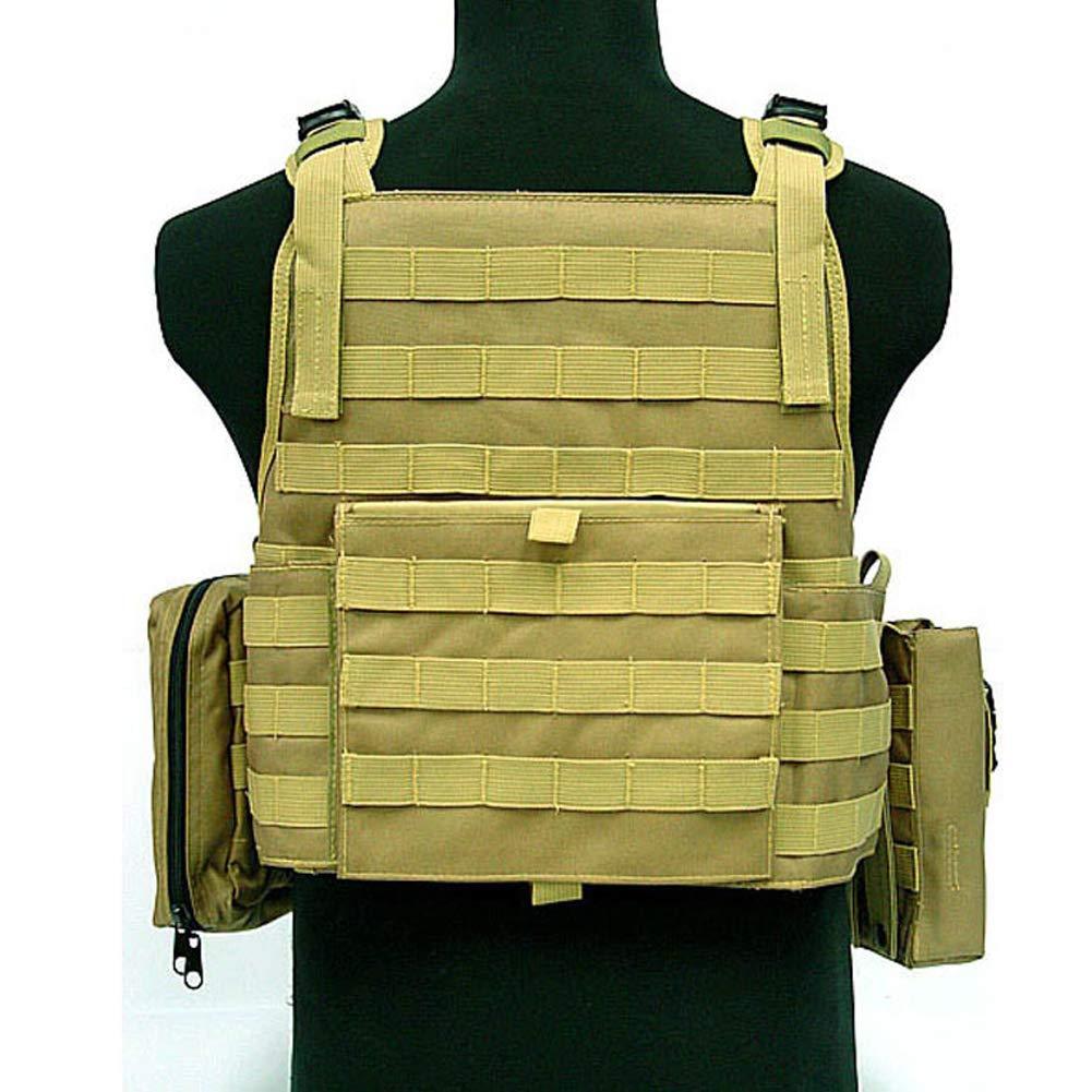 LXY&AI Militärische Taktische Weste - Airsoft Paintball Ghost Combat Weste - Abnehmbare Tasche Outdoor Jungle Field Vest - Schwarz