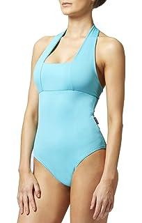 5871950ed7 TLC Sport Women s Tummy Control Slimming Shaping Halter Swimsuit Swimming  Costume Aqua
