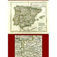 Mapa antiguo ThePrintsCollector - España-Portugal-Stieler 1834/1850