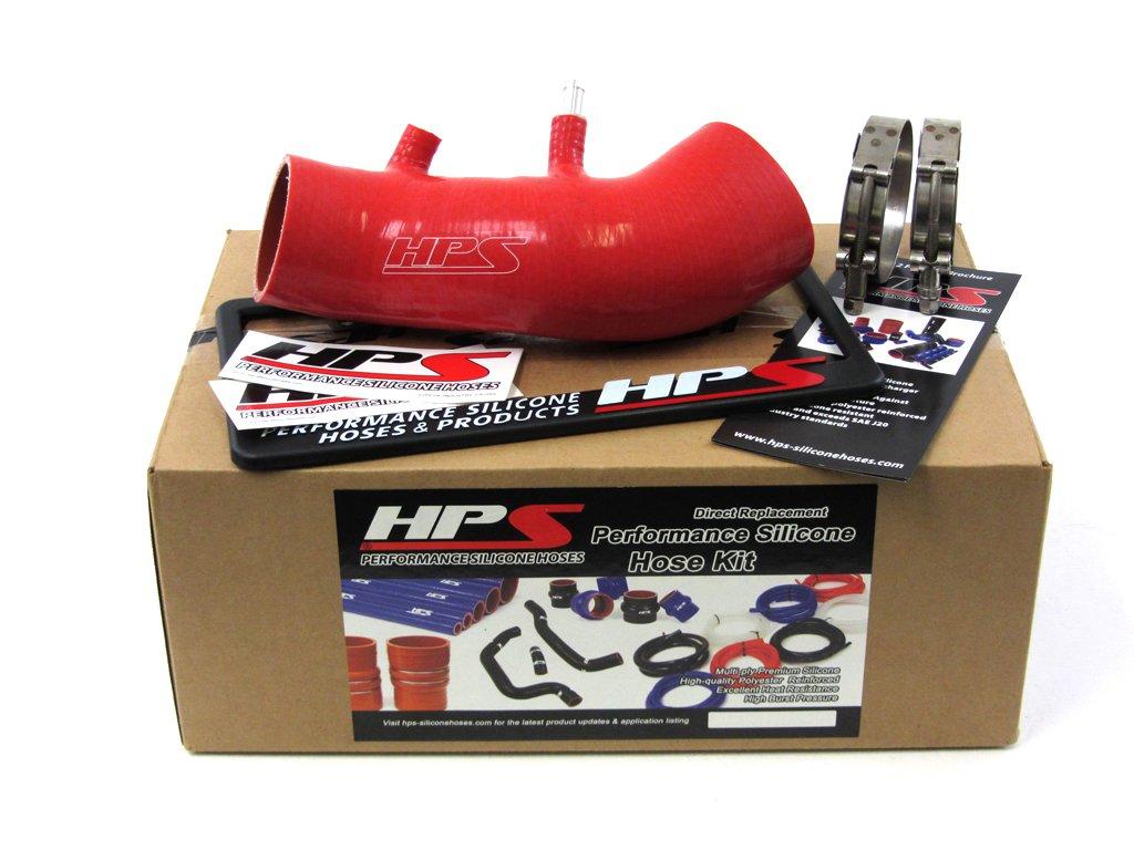 HPS (87-68420-BLK) Black Silicone Post MAF Air Intake Tube for Honda Civic Si Coupe/Sedan