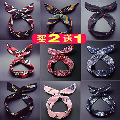 usongs Small dark green dark blue ribbon lace soft aluminum wire wire wire headband hair headbands solid nested