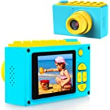 BlueFire Kids Digital Camera Mini 2 Inch Screen Children's Camera 8MP HD Digital Camera with Silicone Soft Cover & Micro SD Card, Best Gift for Kids(Blue)