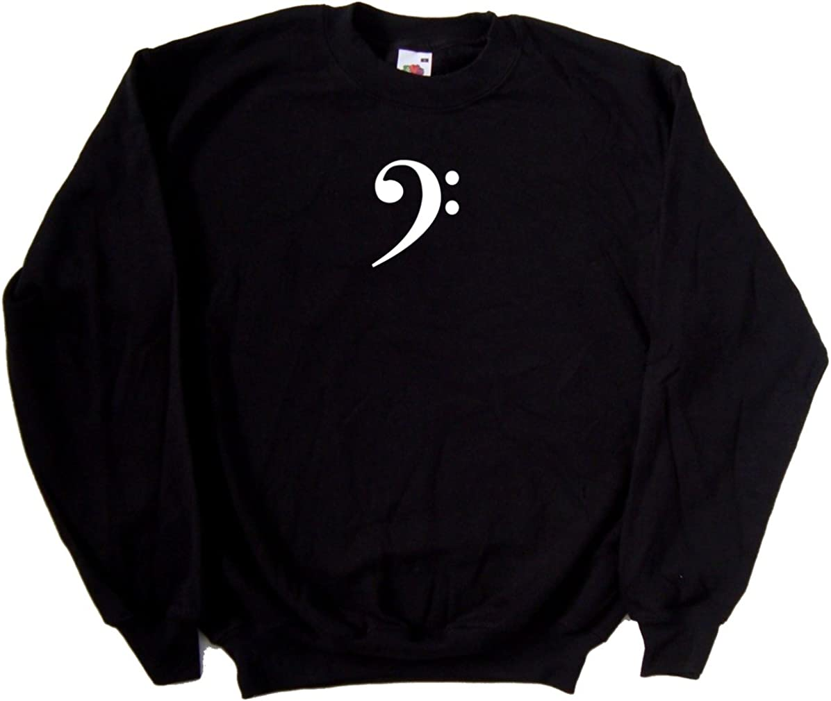 Bass Clef Music Black Sweatshirt