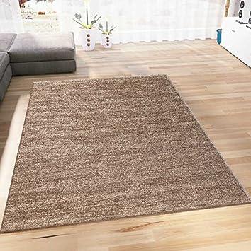 VIMODA Teppich Wohnzimmer Kurzflor Modern Meliert Farbechtheit ...