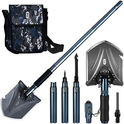 Outdoor Folding Shovel Camping Multi-function Tool Survival Hiking Emergency Kit