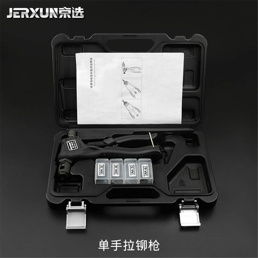 Nut Rivet Gun Manual Core-Pulling Riveting Gun M3-M10 Nut Rivet Gun Industrial Labor Saving Riveting Gun Tools One Hand Rivet Gun