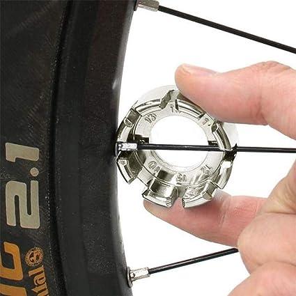 Hard Steel 8 Way Bike Rim Truing Tool for Adjust Bicycle Goabroa Spoke Wrench