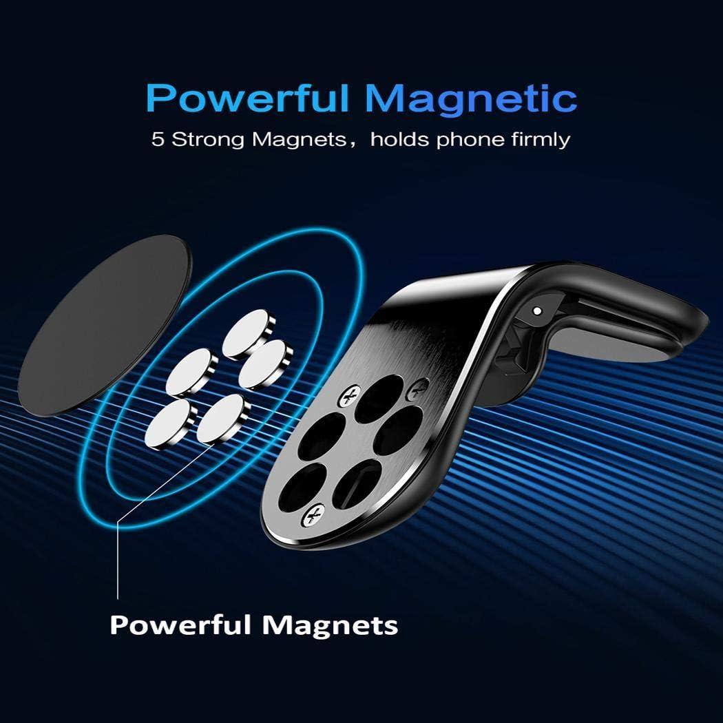 Magnetic Car Phone Holder for Phone in Car L Shape Air Vent Mount Stand Magnet Mobile Holder