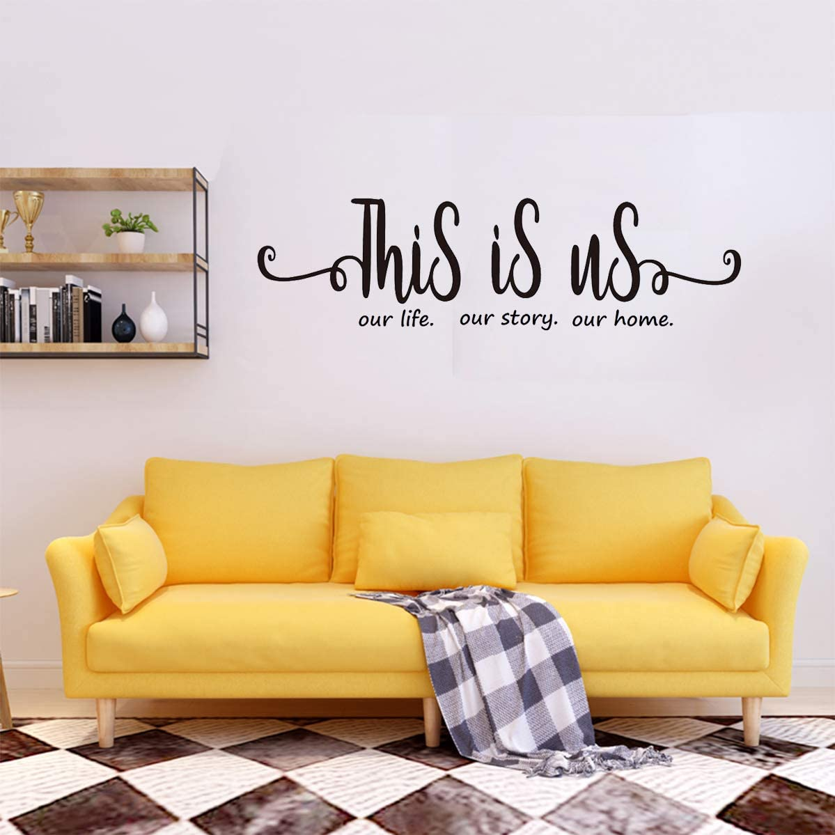 This is us Our Life Our Story Our Home Family Wall Decal Vinyl Quotes Wall Art Lettering Sayings Home Décor
