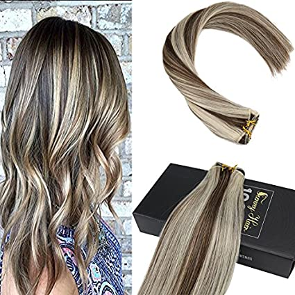 Sunny 24 quot  60cm Highlights Blonde  4 613 Alta Qualita Capelli Umani  Brasiliani 6611a8389ea2