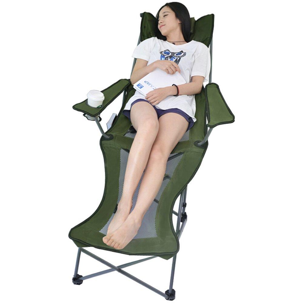 GFL椅子折りたたみベッドアウトドアレジャーチェア折りたたみベッドポータブル折りたたみ式リクライニングシート付属病院ベッドOffice Lunch Break昼寝ベッド(A + + + B07DKCLDD5