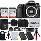 Canon EOS 80D DSLR Camera (Body Only) + SDHC 32GB Memory Card + RC-6 Wireless Remote Control + LP-E6N Replacement Battery + Photo4Less DC59 Camera Case + Lens Band - Double Tripod Accessory Bundle