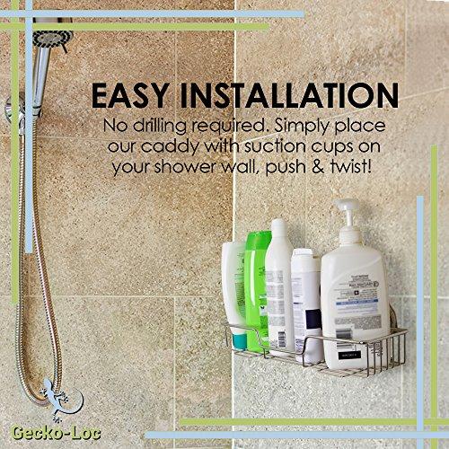Gecko Loc Shampoo Conditioner Holder Shower Caddy Wide Storage