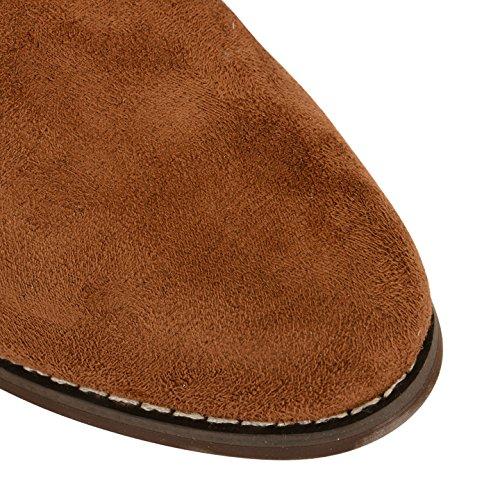 Mujer Dolcis Chelsea Botines Zapatos Tacón Bajo Pull plana en tamaño Marrón - canela